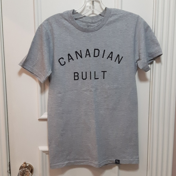 Peace collective Canadian Built Gray tee